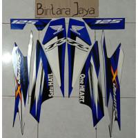 Sticker Tahun R 2013 Lis Honda Biru 125 X Supra Striping