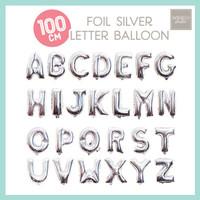 Letter Silver Balloon Giant Jumbo 40inch 100cm Huruf Balon