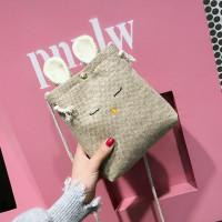 Tas Handbag / Selempang Bahan Kanvas Motif n Kelinci untuk Wanita