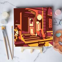 Paint by number lukisan bangunan city versi 1 canvas 20x20 cm