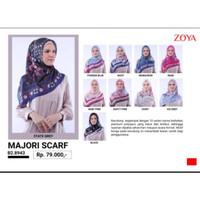 [ NEW ARRIVAL ] Zoya Majori Scarf - Kerudung Segiempat Motif - Hijab