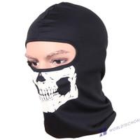 Masker Wajah Model Kepala Tengkorak Balaclava Warna Hitam