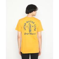 Kaos Pria Erigo T-Shirt Japan Moto Cotton Combed Mustard