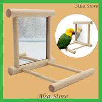 [AS] Mainan Ayunan Dengan Cermin Untuk Aksesoris Kandang Burung