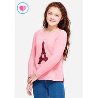 Justice Girls flip sequin snuggly sweater-Sweater Anak-Sz. 6/7-E7