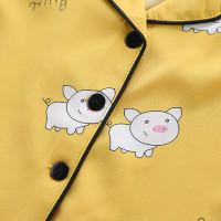 Piyama Lengan Pendek Dan Celana Pendek Motif Kartun Babi Untuk Anak