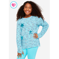 Justice Girls Flip Sequin Pattern Sweater - Sweater Anak - Sz. 18