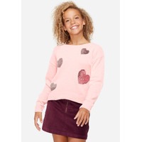 Justice Girls Flip Sequin Super Soft Sweater-Sweater Anak-Sz. 8-P7