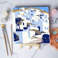 Paint by number lukisan bangunan city versi 2 canvas 20x20 cm