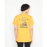 Kaos Pria Erigo T-Shirt Ride & Destroy Cotton Combed Mustard