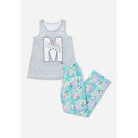 Justice Girls Int. Unicorn Pajama Set-Pakaian Tidur Anak-Sz. 8-O8