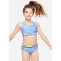 Justice Girls Denim Splatter Bikini - Pakaian Renang Anak - Sz. 10