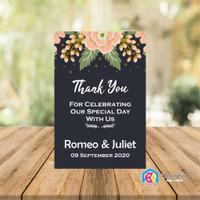 souvenir Kemasan Kartu pernikahan Label Thanks kartu hangtag Produk uc