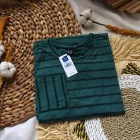 Garis Combad Stripe Baju Lengan Kaos Salur Panjang Belang Premium Pria