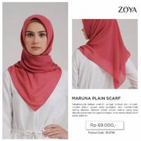 Zoya Maruna Plain Scarf - Kerudung Segiempat Polos - Hijab Murah