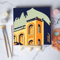 Paint by number lukisan bangunan city versi 3 canvas 20x20 cm