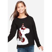 Justice Girls Holiday Unicorn Sweater - Sweater Anak Perempuan - Sz. 8