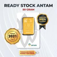 50 GR(GRAM) LOGAM MULIA / LOGAM MULIA ANTAM / EMAS ANTAM BERSERTIFIKAT