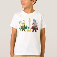 Baju Kaos Anak Guri Hiru Loki & Thor Premium