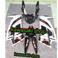 Fairing sayap cover body ninja rr new Hitam putih special edition 2015
