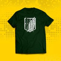 T-shirt Kaos Attack On Titan Scouting Legion YT0007 - Bottle Green