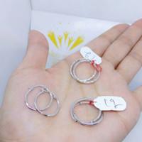 Anting emas putih ring 420 berat 1 gram