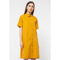 The Executive Shirt Dress 5-DDWKEY121D069 Mustard
