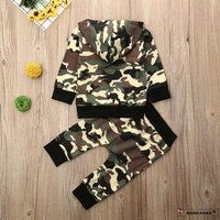 HGL♪Toddler Baby Boy Camo Hoodie Clothes Tops Pants Leggings