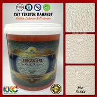 Kemasan 5 Kg - Cat Tekstur Pasir Kamprot Warna Putih