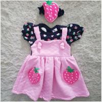 Baju dress pergi jalan lucu fashion anak bayi cewek perempuan str