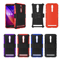 Case Cover Hybrid rugged Armor Grip Stand untuk 5.5 Asus Zenfone 2