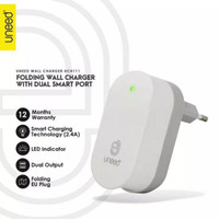 PROMOSI Smart Travel Charger Fast Charging Dual USB Port Uneed UCH111
