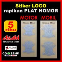 Otomotif Stiker Logo Lantas Plat Motor Mobil Bahan Nyala