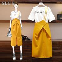 Set 2pcs Dress Mini Wanita Tali Spaghetti Outer Kemeja Lengan Pendek