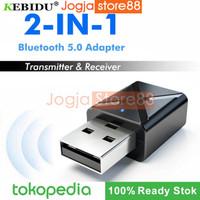 2 in 1 USB Dongle HiFi Audio Bluetooth Transmitter & Receiver - Black