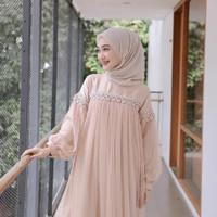 KAHFI Baju Kondangan Gamis Wanita Brukat Remaja Terbaru Dress Bridesma