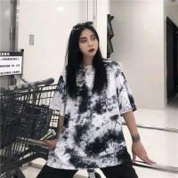 Abstrak Dye Lengan Kaos DYE Cewek TMBLR T-shirt Wanita Tie BMO Kaos TI