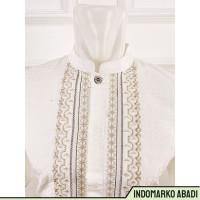 IdMarko baju koko putih/semi sutra/lengan pendek/bordir