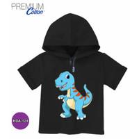 Kaos Hoodie Anak Baju Dinosaurus Tyrannos Katun Premium #KDA-124