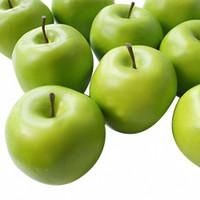 12 Pcs Green Apple Fake Fruit, House ildren Toys