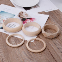 Jewelry SUP Plain Natural Unfinished Unpainted Wooden Bangle