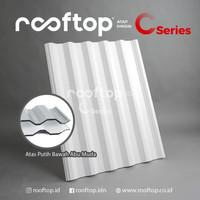 Atap uPVC Rooftop C-Series Alderon Dingin Rumah Gedung Ruko 5 meter
