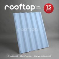 Atap uPVC Rooftop I-Series Alderon Rumah Gedung Ruko Biru 4 Meter