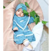 KAHFI Gamis Bayi Set Hijab gamis pompom bayi baju muslim aqiqoh bayi g