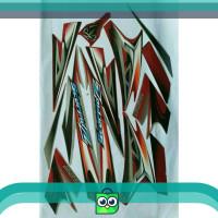 Striping stiker striping scorpio z 2008 silver merah