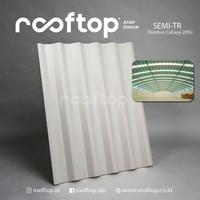 Atap uPVC Rooftop Semi Transparan Alderon Rumah Gedung Ruko 7.5 Meter