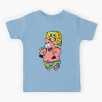 Kaos Baju Anak patrick and spongebob BFF