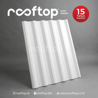 Atap uPVC Rooftop I-Series Alderon Rumah Gedung Ruko Putih 4 Meter