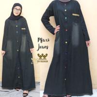 KAHFI Gamis Jeans Cantik ld102-106 pb135 DRFashion Baju Dress Jins Gam