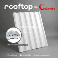 Atap uPVC Rooftop C-Series Alderon Dingin Rumah Gedung Ruko 7 meter